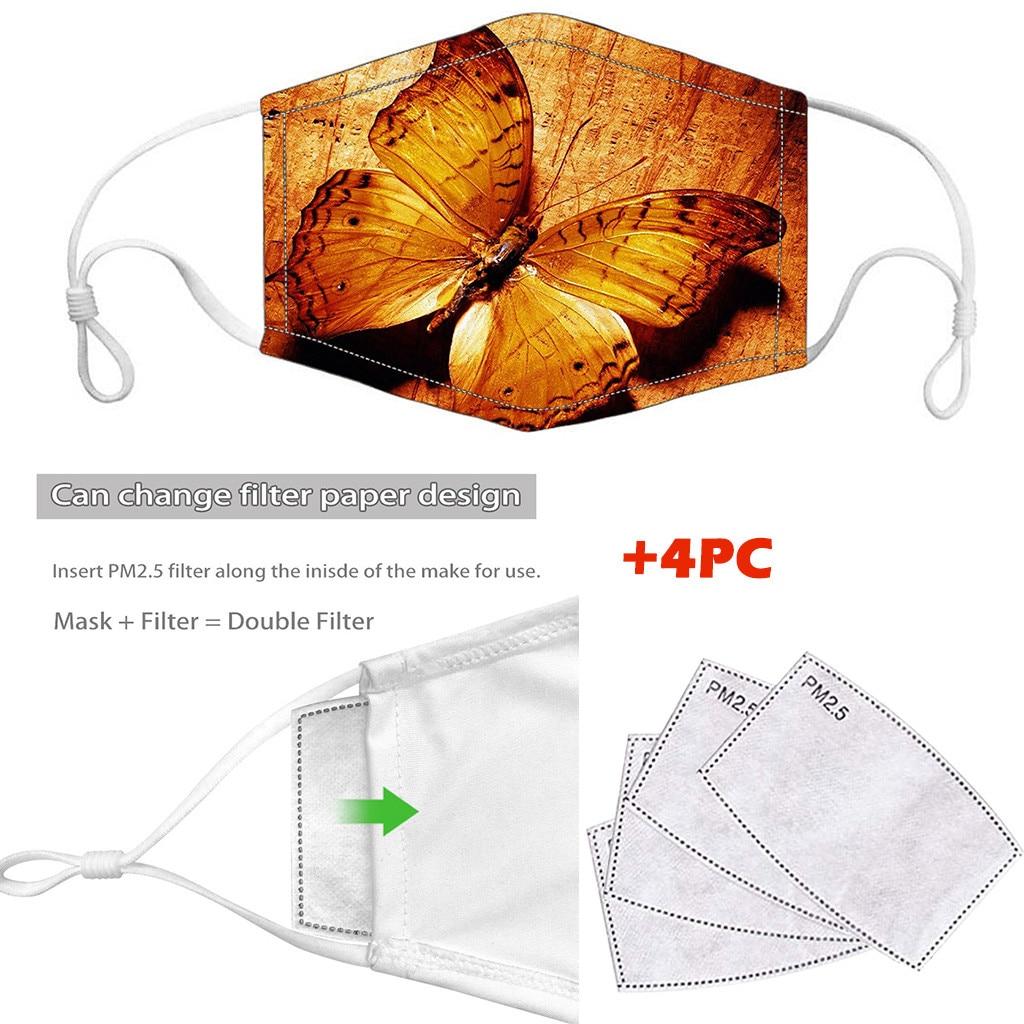 Women Girl Dustproof Windproof Foggy Haze PM2.5 Mask With 4PC Mask Gasket Face Mask Filter маска от вирусов модная