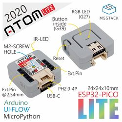 M5Stack 2020 Новое поступление официальный ATOM Lite ESP32 Development Kit Neo светодиодный Arduino Blockly программируемый комплект