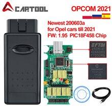 OPCOM V1.99 V1.95 V1.78 V1.70 V1.65 OBD2 يمكن حافلة قانون القارئ لأوبل المرجع كوم OP-COM obd2 تشخيص PIC18F458 FTDI رقاقة OBD