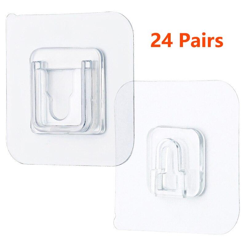 Двухсторонняя клейкая настенная вешалка, Прочные прозрачные крючки, присоска, настенный держатель для хранения для кухни, ванной комнаты