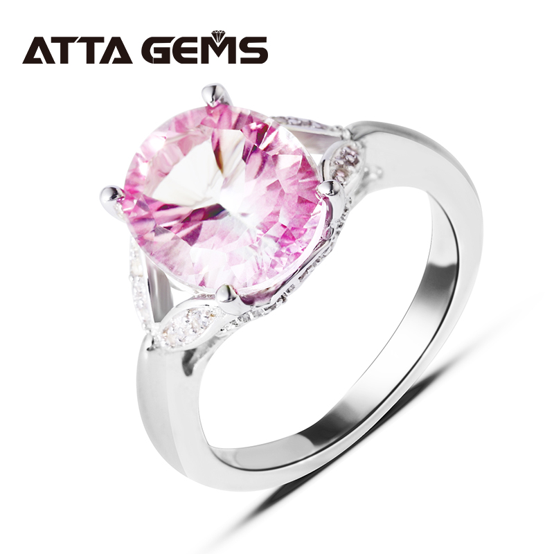 Natural Pink Topaz Sterling Silver 4.5 Carats Natural  Pink Topaz Ladies'  Favorite Ring Women Fine Jewelry Wedding Birthday