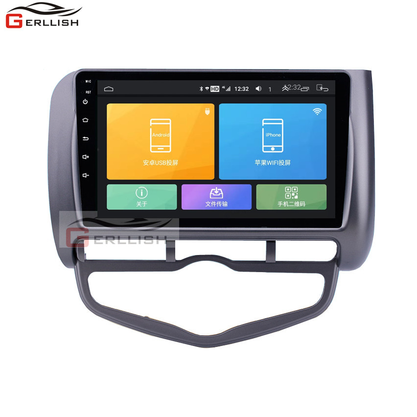 Full Touch Screen Android Car Gps Navigation Multimedia Dvd Player For Honda Fit Jazz 2002-2008 Car Stereo