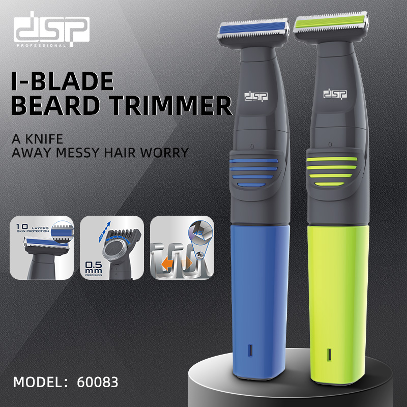 Mini USB Wet And Dry Electric Shaver For Men Rechargeable Razor DSP Gifts For Men, Blue/Yellow Portable Travel Electric Razor