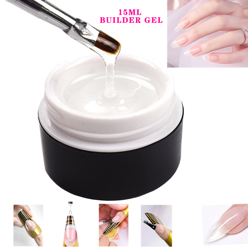 15ML Builder Gel Nail Polish Clear Nail Gel Varnishes For Nail Art Designed Top Coat Nail Primer Soak Off Semi Permanent UV Gel