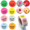 500Pcs/Roll Smiley Thank You Sealing Tag Labels Scrapbooking For Gift Packaging Birthday Party Cute Stationery Kraft Sticker