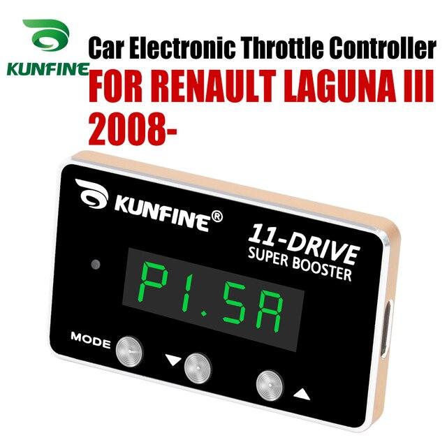 KUNFINE voiture contrôleur daccélérateur électronique accélérateur de course puissant Booster pour RENAULT LAGUNA III 2008-après pièce de réglage