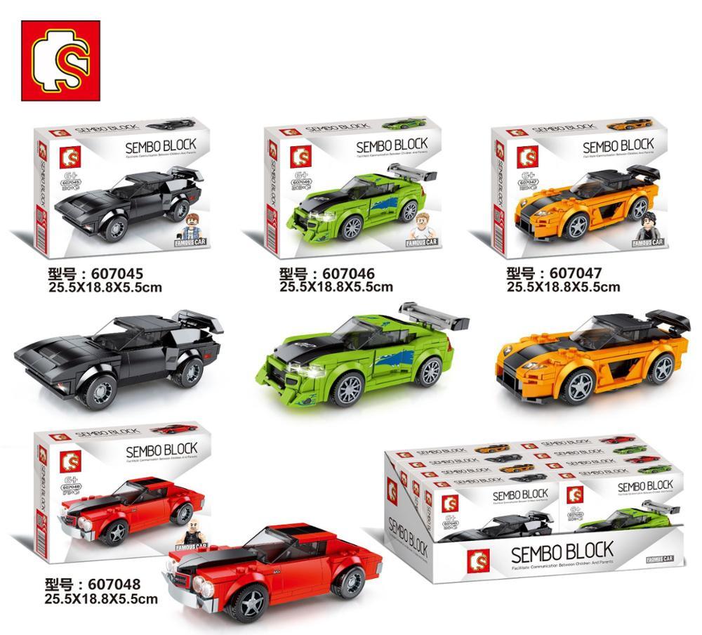 SEMBO Blocks Super Race Car Building Bricks Famous Vehicle Model Educational Toy For Children Christmas Boy Gifts Kids Toys
