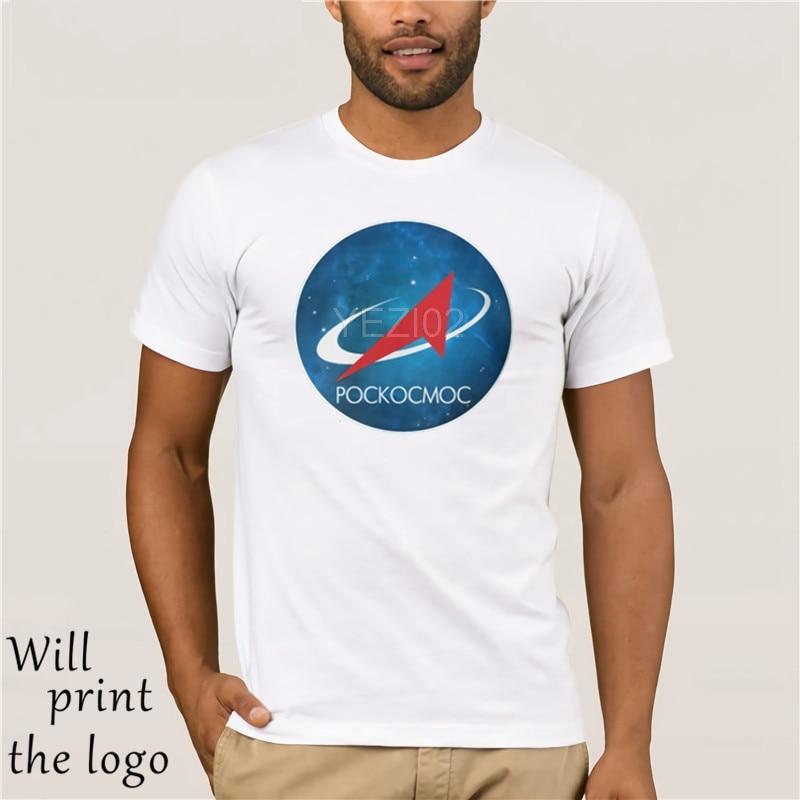 Fashion Cool Men T Shirt Women Funny Tshirt Roscosmos Nebula Logo Customized Printed T-Shirt