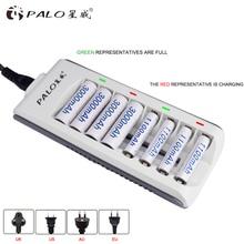 Устройство для быстрой зарядки аккумуляторов PALO с 8 слотами и светодиодный ным дисплеем, 1,2 в