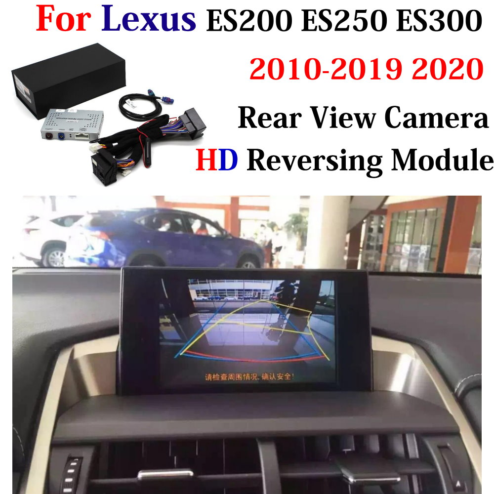 <font><b>Car</b></font> Parking Rear Camera For <font><b>Lexus</b></font> ES ES200/ES250/ES300 2010-2020 AUTO <font><b>DVR</b></font> CAM Camera Interface Decoder Adapter Original Display image