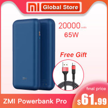 2019 NEUE Xiaomi ZMI Power PRO 20000 mAh Schnelle Ladung No. 10 Pro QB823 65W 20000 mAh Power Bank für iPhone iPad Notebook