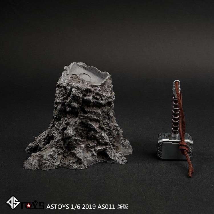Mnotht 1/6 Scene Background Model AS011 1/6 Scale Figure Scene Accessories The Avengers Raytheon Thor Hammer Platform