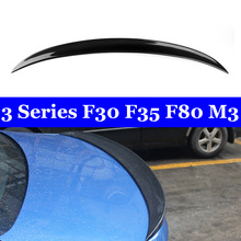 Back Wing Lip For BMW 3 Series F30 F35 F80 M3 Real Carbon Spoiler 320i 328i 335i 326D 2012-2018 for bmw f30 f80 m3 spoiler carbon fiber material m performance style 2012 up 320i 328i 335i 326d f30 carbon fiber