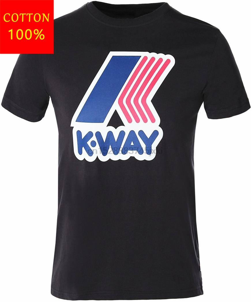 KWay Mens Slim Fit Pete Macro Logo TShirt Cool Gift Personality Tee Shirt