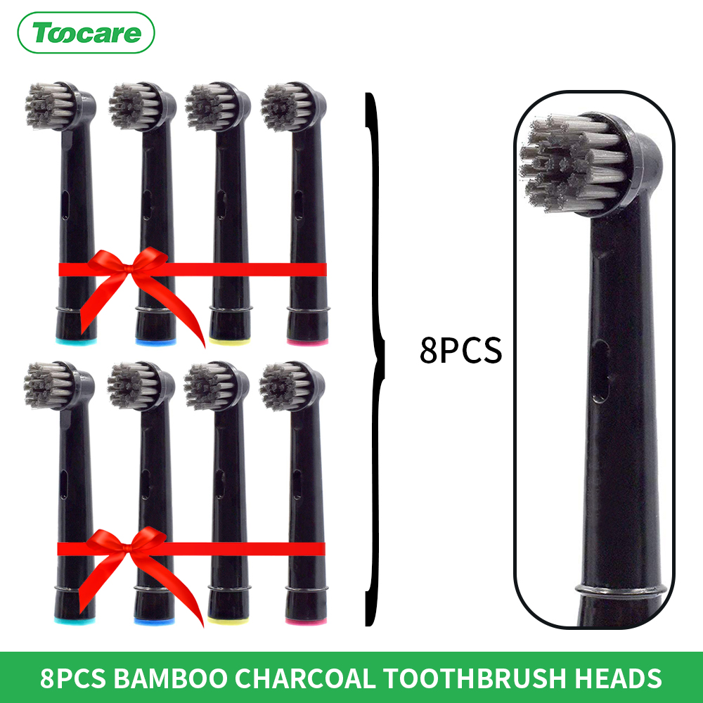 Bamboo Charcoal bristles 100% Recyclable oral b heads precision clean Replacement Heads for Oral-B Electric Toothbrush heads image