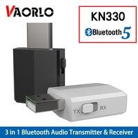 KN330 USB Bluetooth 5 0 transmisor receptor BT 3 5mm AUX Jack 3 en 1 estéreo Audio música inalámbrico Bluetooth adaptador para TV Coche Adaptador inalámbrico     -