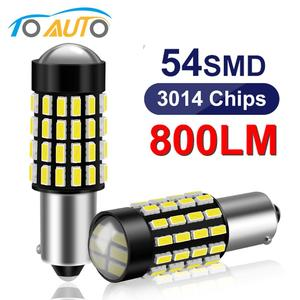 2pcs BA9S T4W T11 Led Bulb High Quality 54SMD 3014 Chips Auto Interior Reading Dome Lamps Signal Lamp 12V White Side Wedge Light