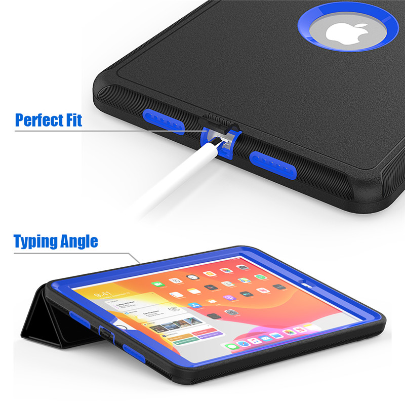 Full Protection Case For Apple IPad 10 2 inch Kids Safe Shockproof Heavy Duty TPU Hard