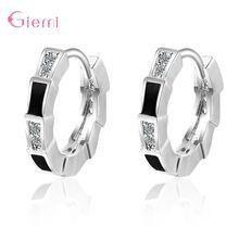 2 цвета на выбор серебряные серьги кольца для женщин вставленные