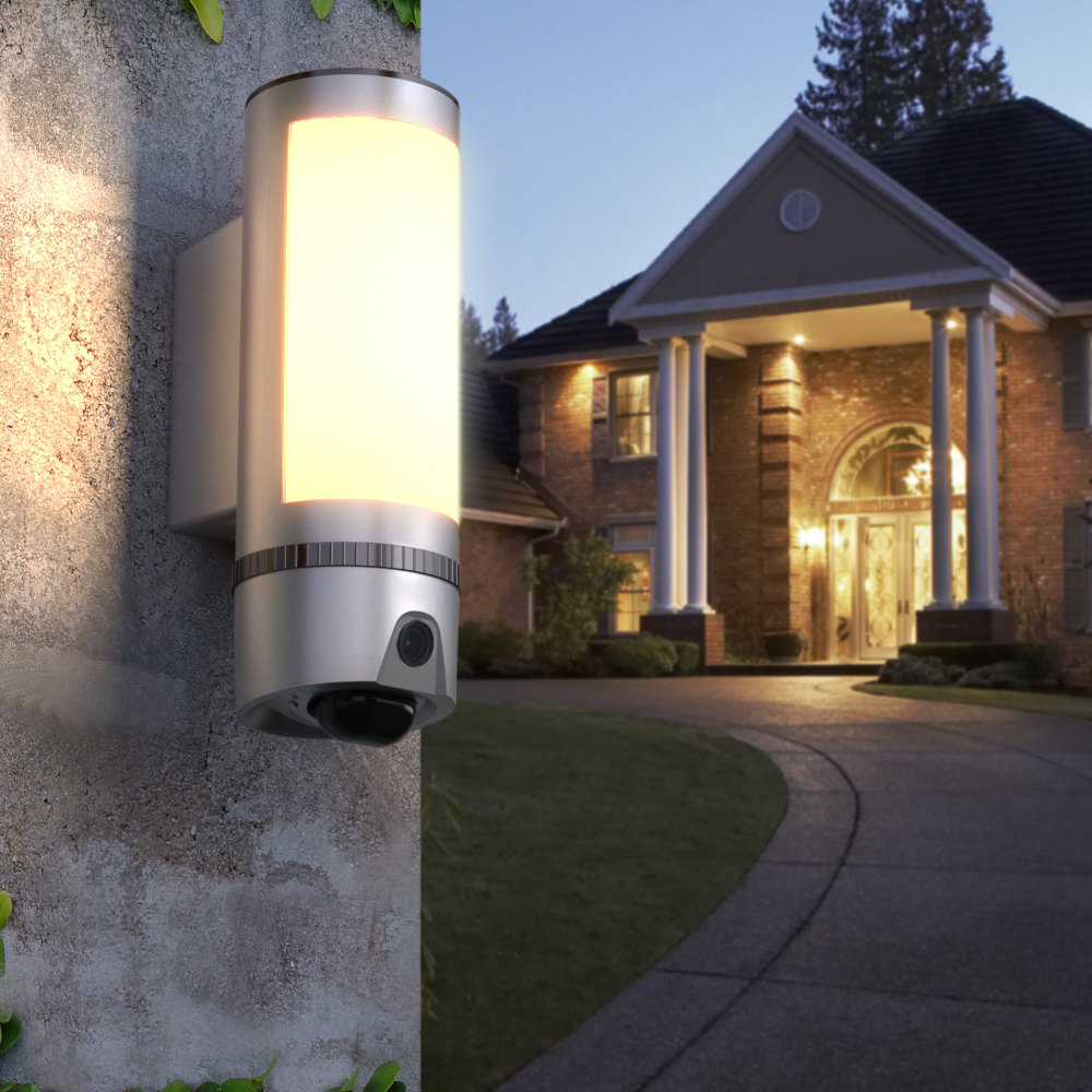 Freecam  1080P Wall-Light Outdoor Security WiFi Camera With AI Humanoid Detection Built-in 16GB SD Card L910