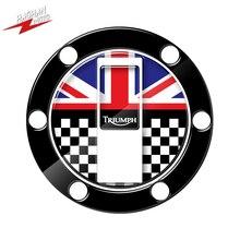 Dla Triumph Street Triple Daytona 675 Tiger 800 Sport Tank motocykl UK naklejka korek zbiornika paliwa Protector