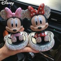 Disney Mickey Mouse Minnie dibujos animados figura juguetes de la muñeca de moda Disney Mickey Minnie dibujos animados de sacudir la cabeza muñeca modelo coche Deco juguete