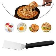Spatule à pizza en acier inoxydable, ustensile de cuisson, steak, pizza, gâteau, BBQ, nouveauté