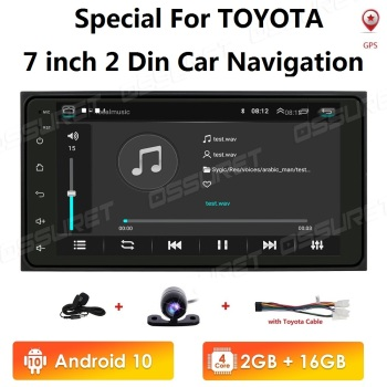 android 10 Car Radio Multimedia Player For Toyota Corolla old RAV4 Prado Vios Hilux Terios Vitz Avanza Land 4Runner 4G WIFI 2+16 image