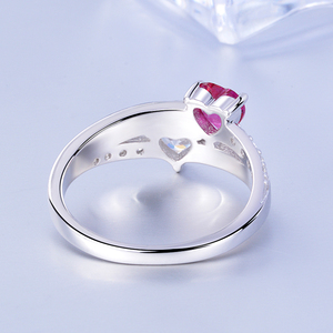 Image 2 - SG Personalized 925 Sterling Silver Rings Custom Heart Birthstone Ring With 2 Names Jewelry for Her Mother days Gift