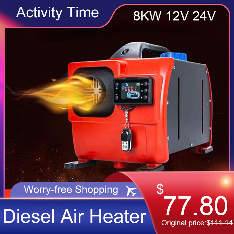 All In One 8KW 12V 24V Car Air Diesels Heater Parking Diesel Air Heater Single Hole LCD Monitor Warmer Quick Heat For Truck Bus|Heating & Fans| - AliExpress