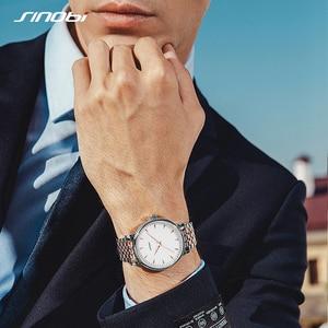 Image 1 - Часы наручные Sinobi Мужские кварцевые, модные золотистые полностью золотистые, оптовая продажа