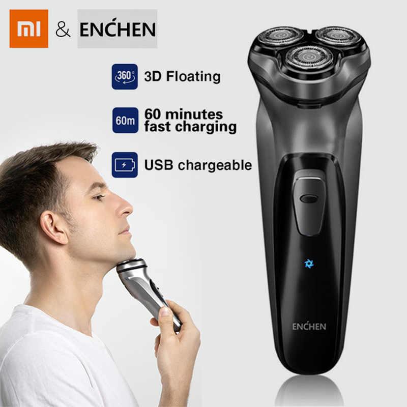 Xiaomi Enchen 3D Alat Cukur Listrik Tanpa Kabel Alat Cukur USB Pengisian Alat Cukur Listrik 3 Kepala Pria Pisau Cukur> Gadget> Hadiah untuk Pria
