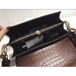Image 5 - Moda timsah omuz çantaları kadınlar için tasarımcı çantaları yüksek kaliteli PU deri kadın tote bayanlar timsah Crossbody çanta