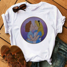 Vrouwen Lgbt T-shirt Liefde Wint Vrouwelijke Biseksuele Lesbische Gay Liefde Is Liefde Tshirt Vrouwen Lesbische Top T-shirt Spoof Prinses t-shirts(China)