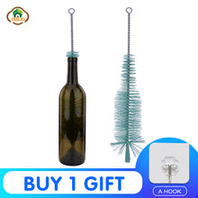 MSJO Cleaning Brush Bottle Wine Glass Cleaner Washer Beer Long Nylon Bottle Clean Drink Glass Bottle Brush Kitchen Accessories(China)