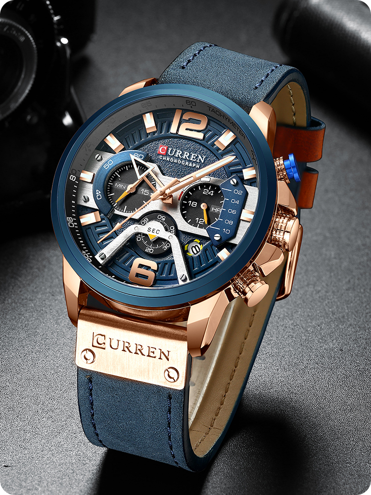 CURREN Watches Clock Calendar Black Male Top-Brand Men Fashion Luxury For Men