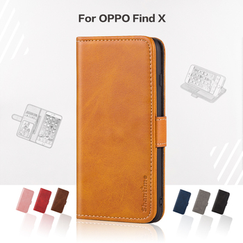 Funda abatible para OPPO Find X Business Funda de cuero de lujo con cartera magnética para OPPO Find X funda de teléfono
