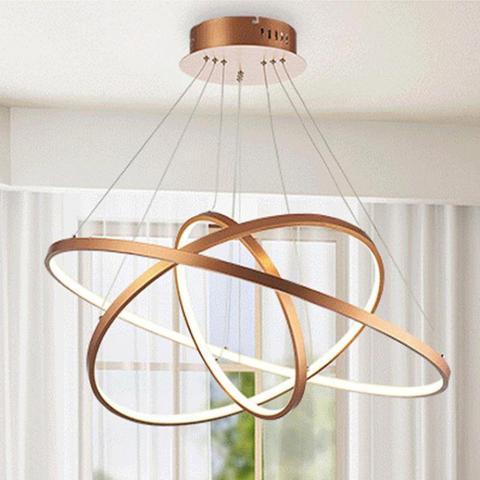anel circulo led moderno diy luzes pingentes