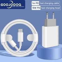 Usb c充電器18ワットpd充電器12プロ最大電力供給3.0高速usb c充電器 + ケーブルiphone 11 × 8 ipadプロ2020