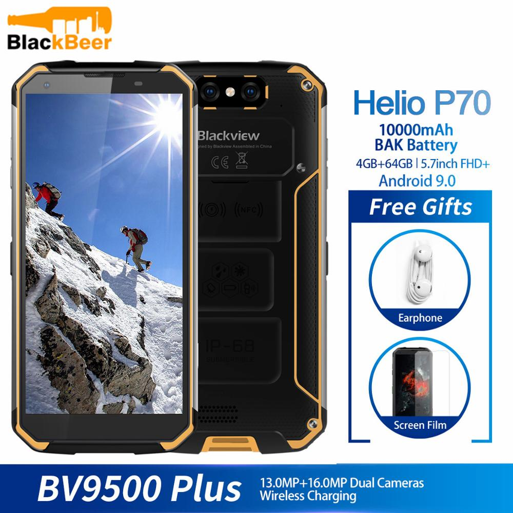 <font><b>Blackview</b></font> BV9500 Plus Helio P70 Octa Core MobilePhone IP68 Waterproof 5.7inch Smartphone 4GB+64GB Android 9.0 Cellphone <font><b>10000mAh</b></font> image