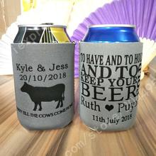 50 custom stubby coolers drink party graduation presents hens party bachelorette party theater outdoor BBQ-one side printing