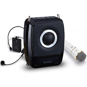Image 5 - New 25W Portable Megaphone UHF Wireless Bluetooth Voice Amplifier with Mic Belt Use Time 20 Hours 2600mAh Support TF U Disk USB