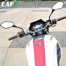 Rétroviseurs latéraux noirs pour moto, 2 pièces, 8mm, 10mm, extrémité de la barre de poignée, pour Scooter, accessoires de vélo électrique
