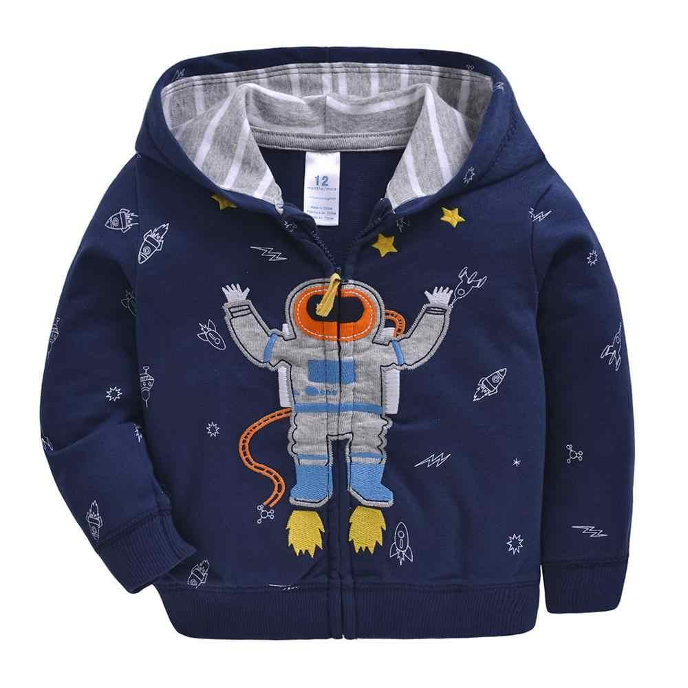 2019 Baby Jongens Meisjes Hooded Sweatshirts Katoen Cartoon Tops Truck Bloem Walvis Out Wear Kids Kleding Voor 9m-3years