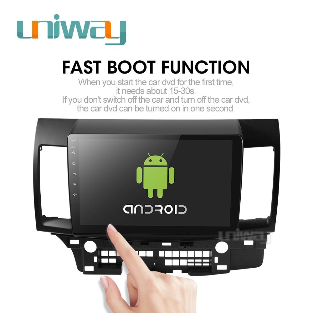 Image 2 - Uniway PX30 DSP YS301 car dvd for Mitsubishi Lancer 10.1 inch 2008 2009 2010 2011 2012 2013 2014 2015 car stereo navigatorCar Multimedia Player   -