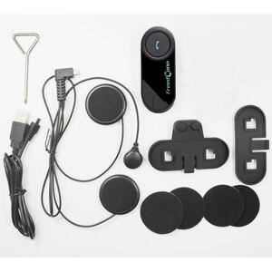 Image 5 - FreedConn Intercomunicador T COM original para casco de motocicleta, auriculares y micrófono blando para máscara completa, con bluetooth y radio FM, 2 uds.