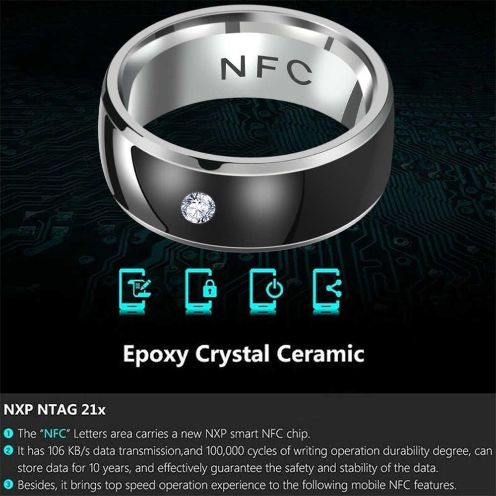 1PC nowy NFC wielofunkcyjny inteligentny palec serdeczny inteligentny nosić palec cyfrowy pierścień podłączyć telefon z systemem Android sprzęt pierścienie
