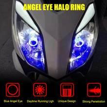 Phare de moto H4 LED, ampoule oeil d'ange Ba20d HS1 H6 Scooter