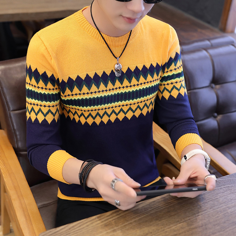 2019 Sweaters Men New Fashion Casual O-Neck Slim Male Knitted Quality Mens Autumn Winter Sweaters And Pullovers Men Clothing