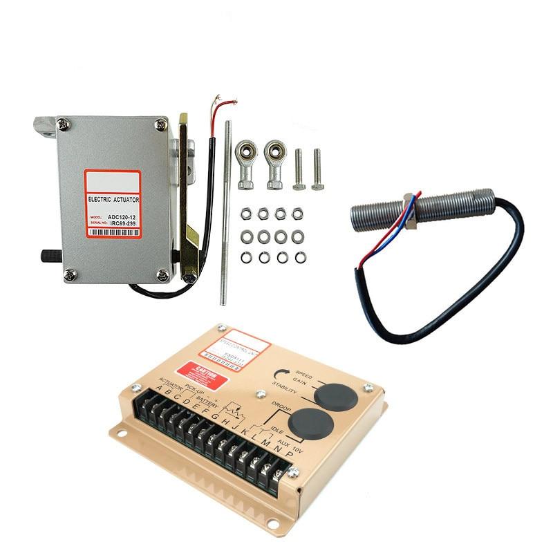 1 conjunto adc120 atuador gerador 12v 24v com governador esd5500e com sensor de captacao 3034572 para